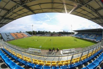 Panoramique stade Jean Laville Gueugnon Tribune Nord www.FCGueugnon.fr