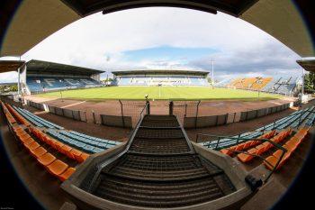 Panoramique stade Jean Laville Gueugnon Tribune sud www.FCGueugnon.fr