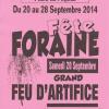 flyer saint maurice Gueugnon fête foraine