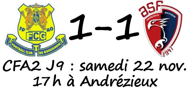 Andrezieux Gueugnon Resultat