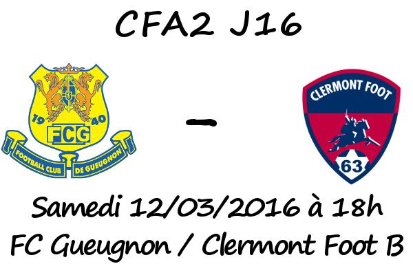 cfa2 j16 fc gueugnon clermont avant match football. Black Bedroom Furniture Sets. Home Design Ideas