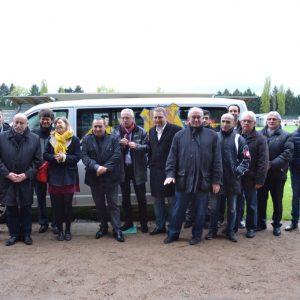 partenaires remise minibus Volkswagen fcg gueugnon fcgueugnon Horizon Bleu 2016