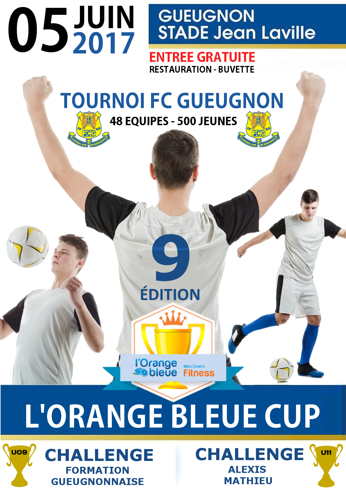 tournoi jeunes orange bleue cup jean laville football club de gueugnon. Black Bedroom Furniture Sets. Home Design Ideas