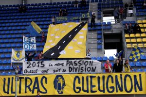 Ultras Gueugnon UG02 Tifo 20 ans D1 Resultat