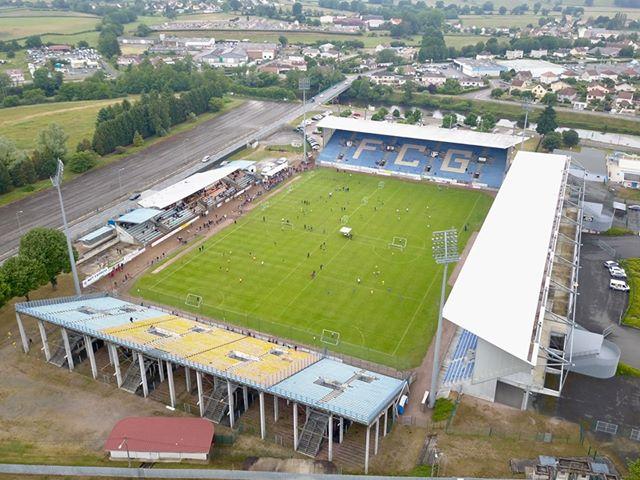 Stade Jean Laville de Gueugnon vu du ciel par Drône