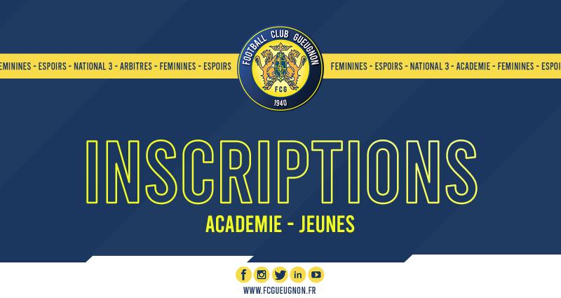 [Académie] Les inscriptions pour la saison 2020-2021 sont ouvertes