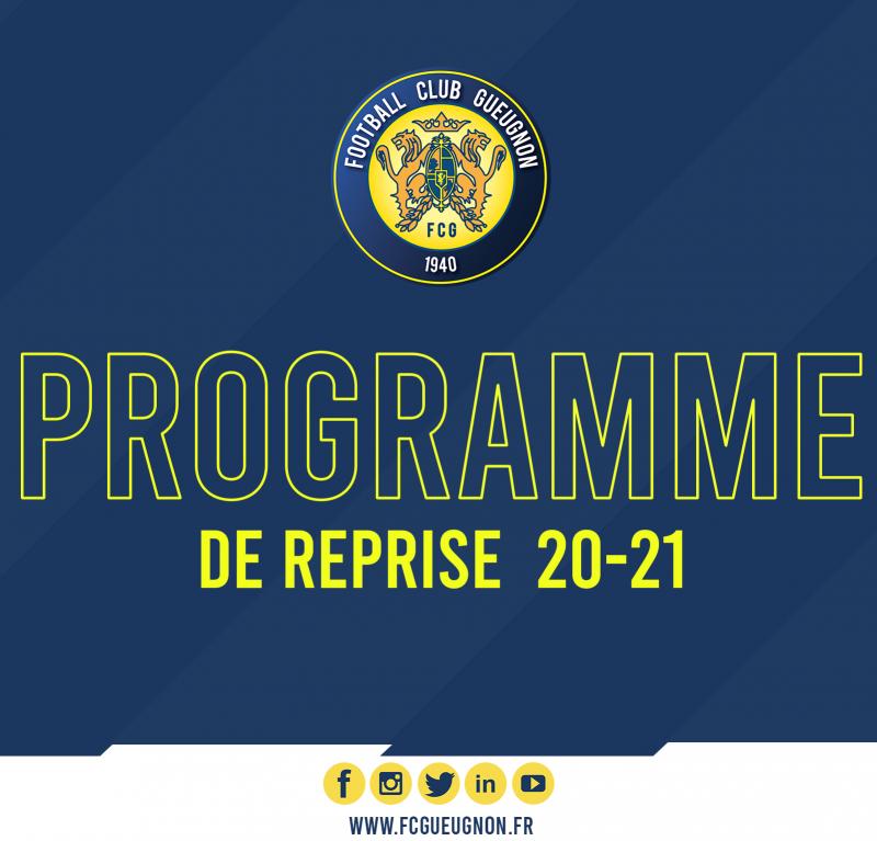 #PrepaFCG : Programme de la reprise pour les Séniors N3 et Espoirs