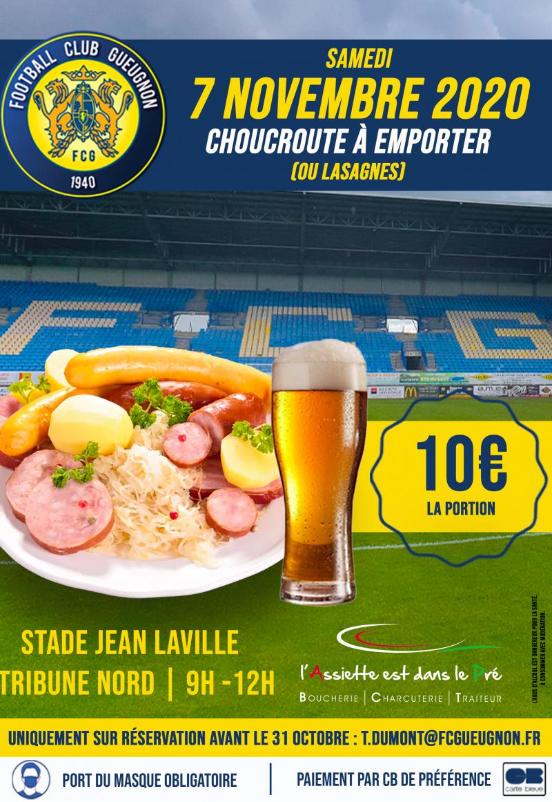 [Extra-Sportif] Le FC Gueugnon propose une vente de choucroute et lasagnes à emporter