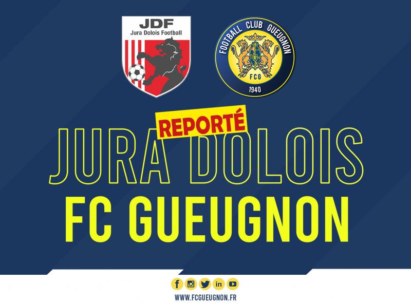 [N3 J06] La rencontre Jura Dolois – FC Gueugnon reportée